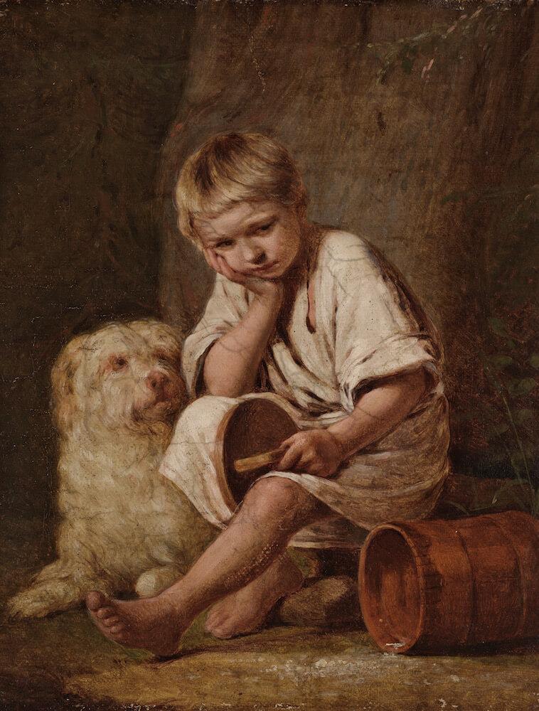 Венецианов А.Г. '- Вот-те и батькин обед!, 1824