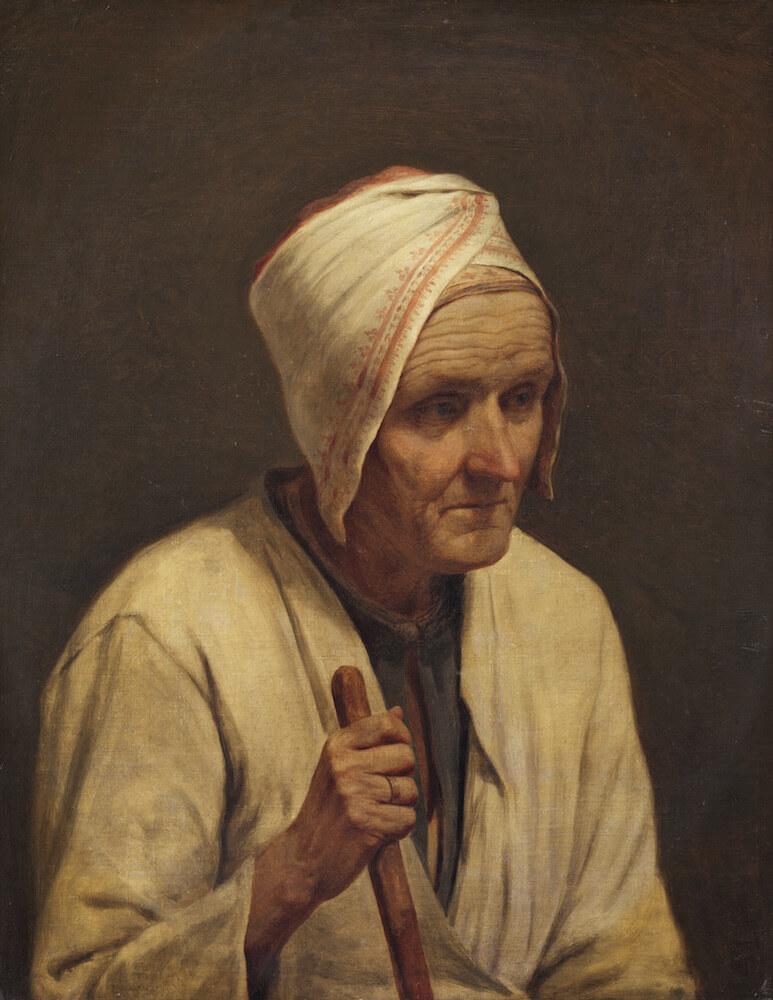 Венецианов А.Г. Старая крестьянка с клюкой. 1830-е