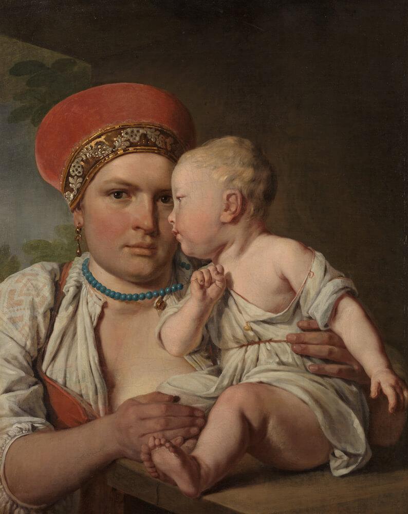 Венецианов А.Г. Кормилица с ребенком. Начало 1830-х