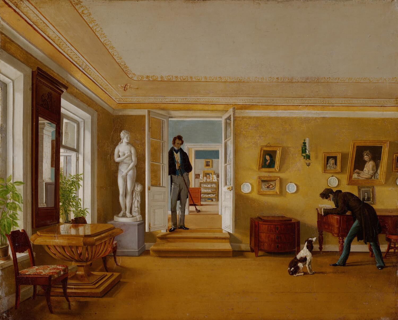 К.А. Зеленцов - В комнатах, конец 1820-х - 1830-е