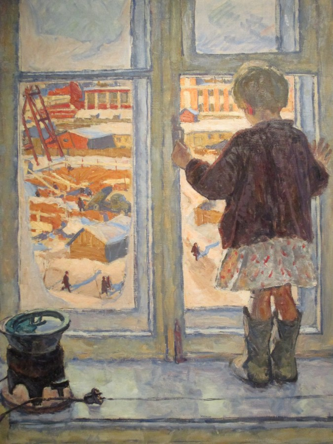 Владимир Жуков - Девочка на окне, 1960
