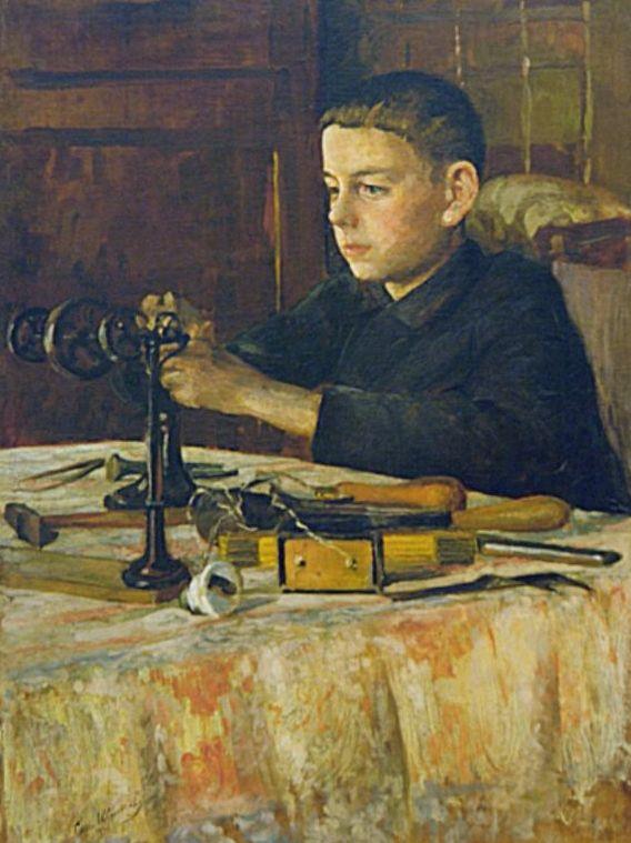 Сергей Шитов - Портрет сына, 1934