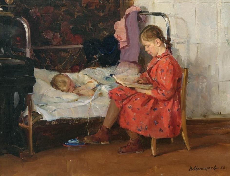Виктор Непостаев - «Любимые сказки. Таня, почитай», 1955 год).