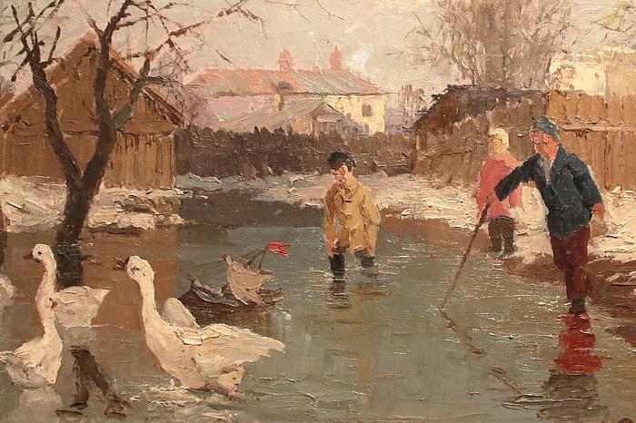 Александр Гришин - Гуси (эскиз), 1941