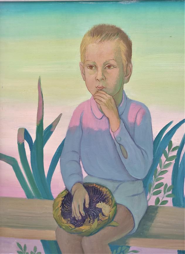 А.Е. Соколенко. «Мальчик с подсолнухами», 1992