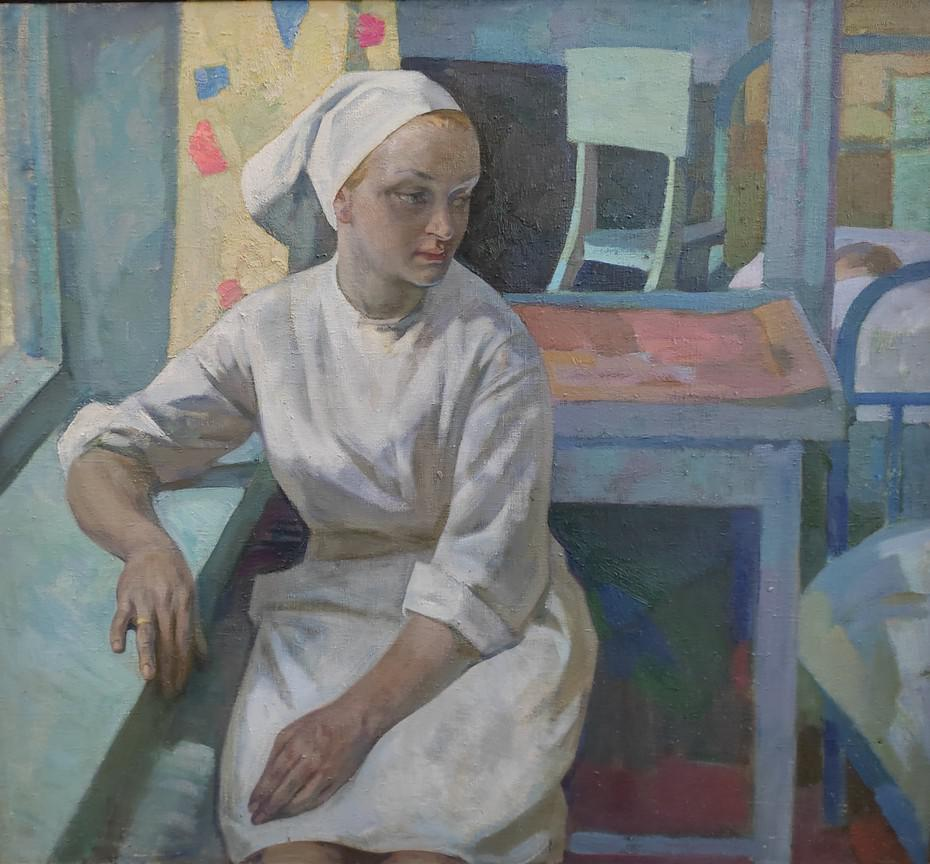 Л.Ф. Попандопуло. «Тихий час. Медсестра», 1972