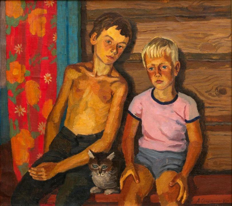 Соколенко А.Е. Мальчики (Летом в деревне). 1988