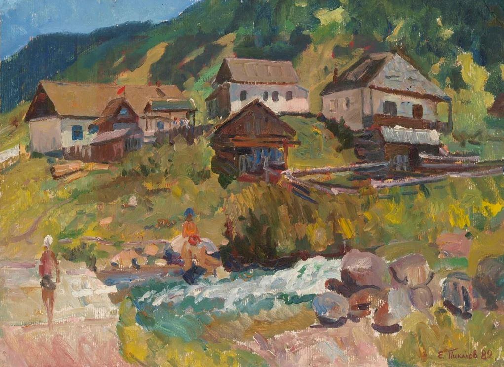 Пикалов Е.А. Красный Карачай (этюд). 1982