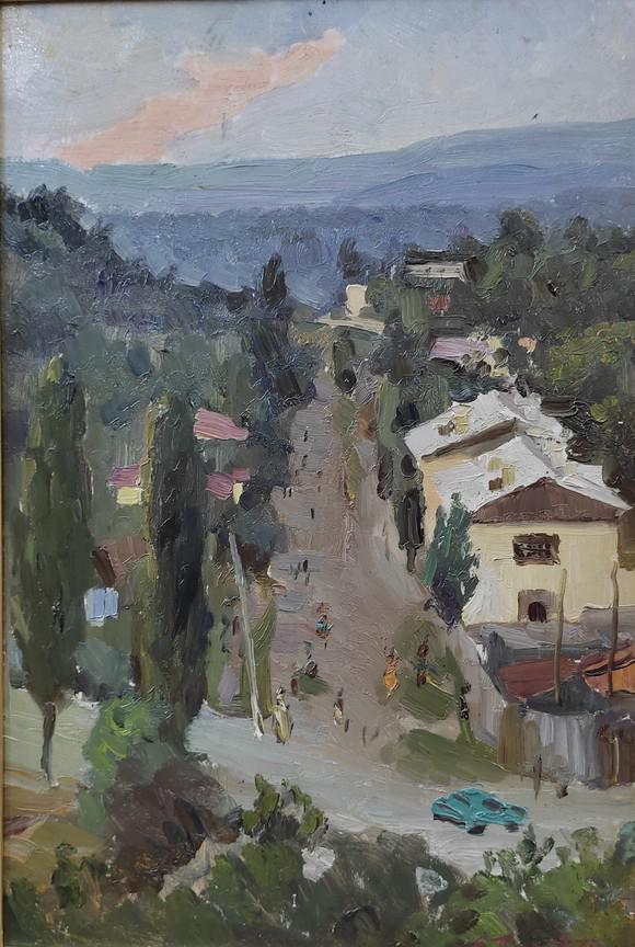 Е.А. Пикалов. «Старый Кисловодск» (этюд), 1973