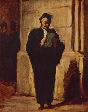 картина французского художника Домье Оноре Читающий адвокат