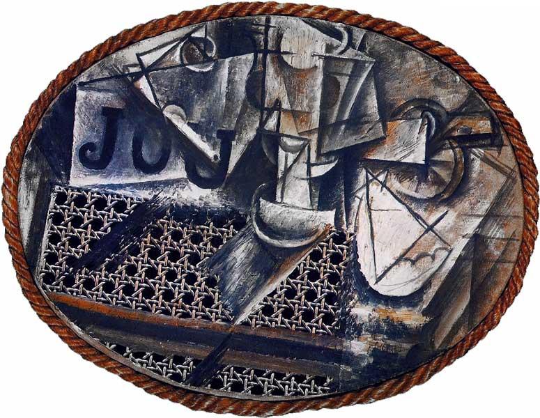 Пабло Пикассо Натюрморт с плетеным стулом