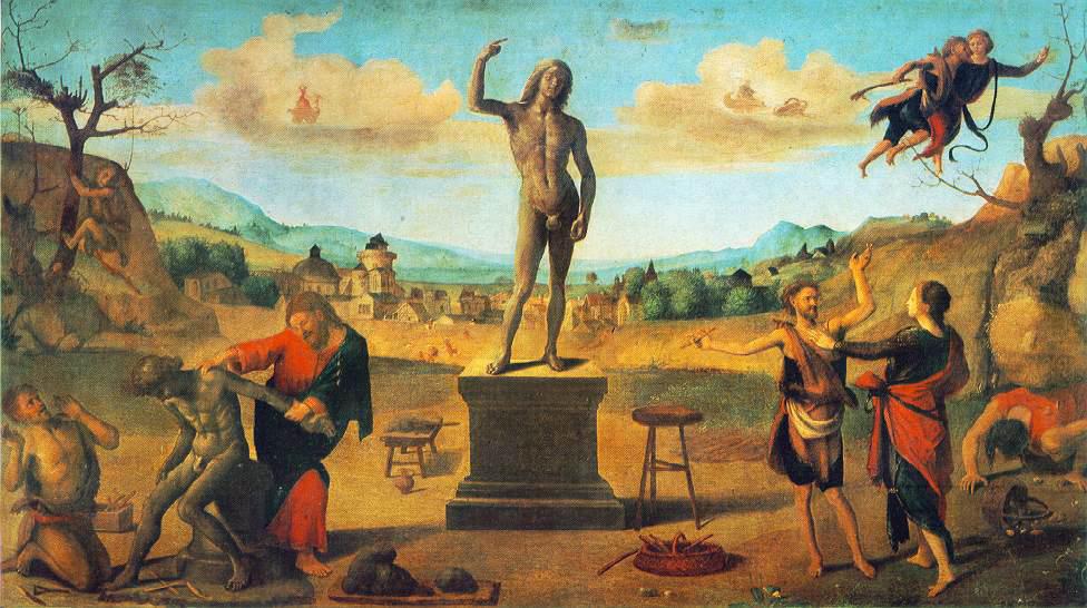 Пьеро ди Козимо. Миф о Прометее, 1505-1515