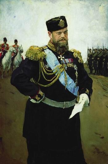 Картина русского художника Валентина Серова Портрет Александра III с рапортом в руках.jpg