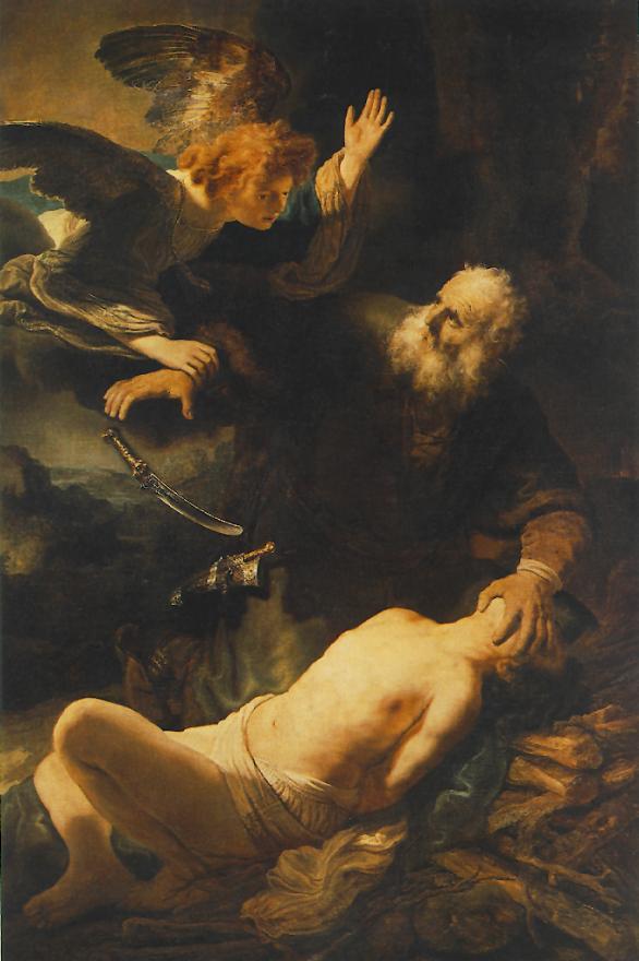 Картина Рембрандта Жертвоприношение Авраама