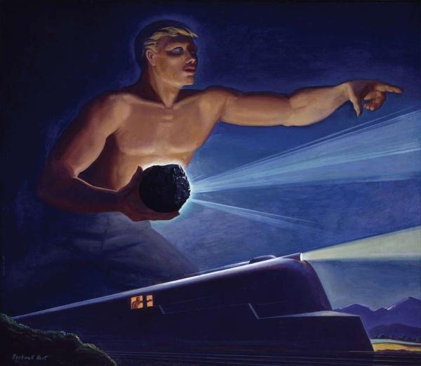 Роквелл Кент. Сила... для колес прогресса (Из серии Битуминозный уголь), 1945