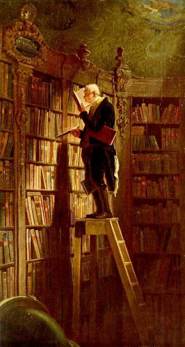 Картина немецкого художника Карла Шпицвега Книжный червь