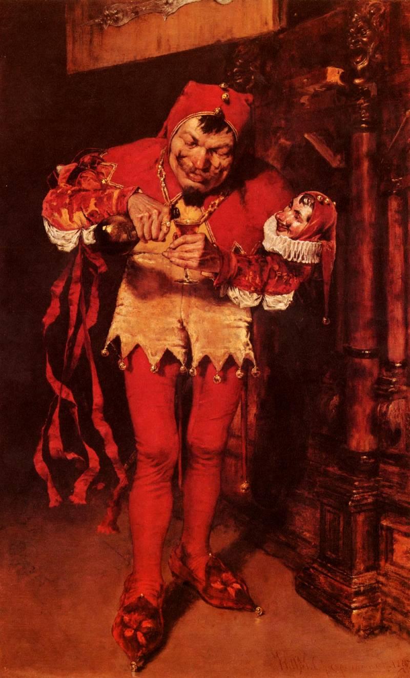 картина американского художника Уильям Меррит Чейз  William Merritt Chase Придворный шут