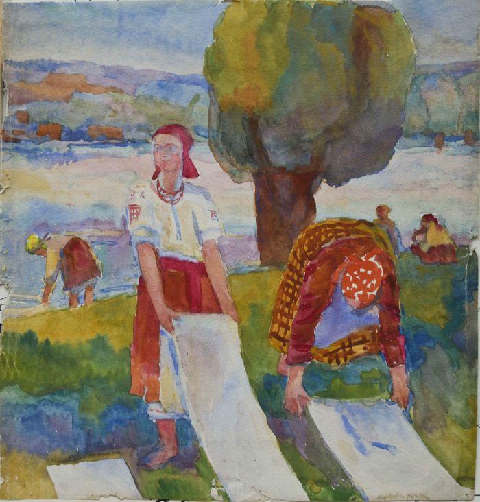 Коновалова А.С. Иллюстрация к русским народным сказкам. 1920-е гг., бум.,акв., 28,5х27,5 см