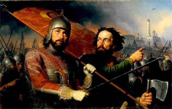 Картина русского художника Михаила Ивановича Скотти Минин и Пожарский