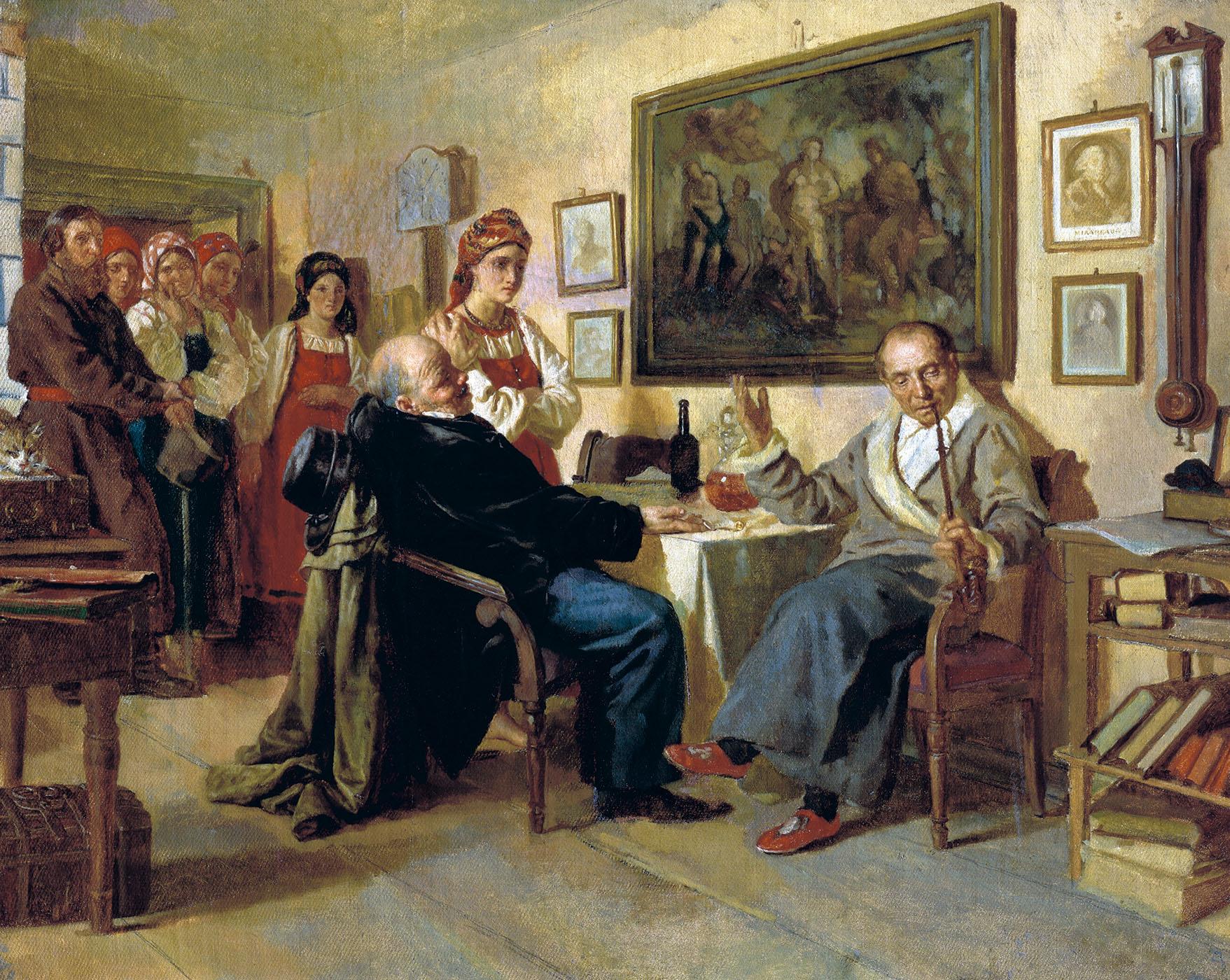 Картина русского художника Николая Неврева Торг
