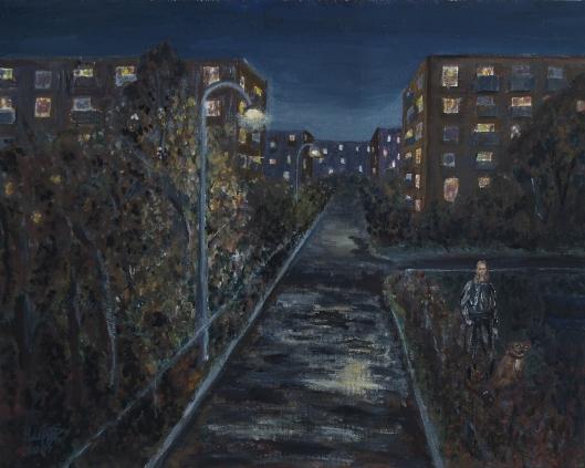 Картина современной художницы Гуткиной Надежды Михайловны Вечерняя прогулка