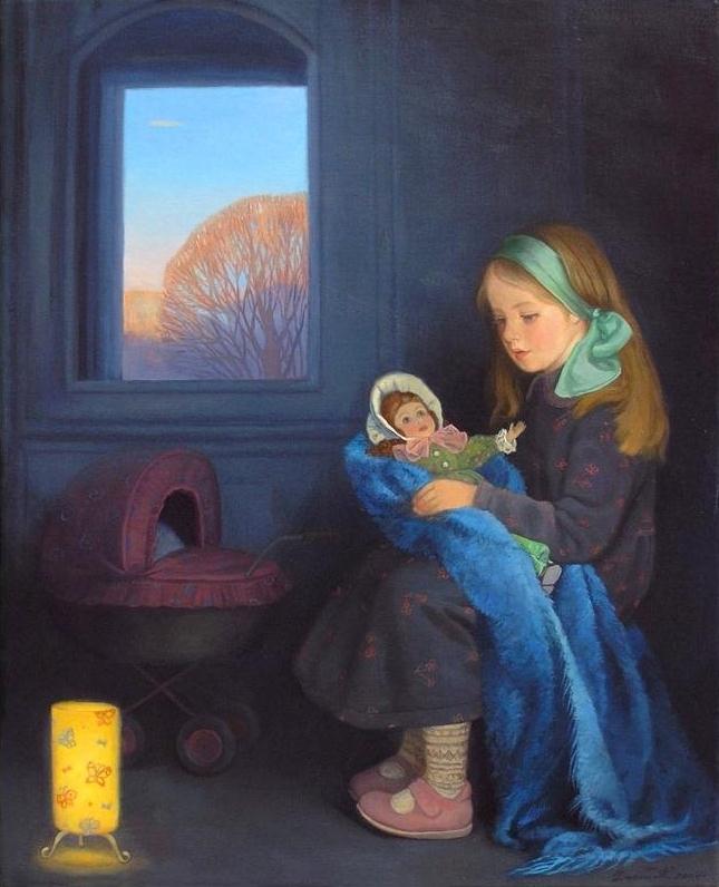Картина современной художницы Татьяны Дерий Вечерняя песенка