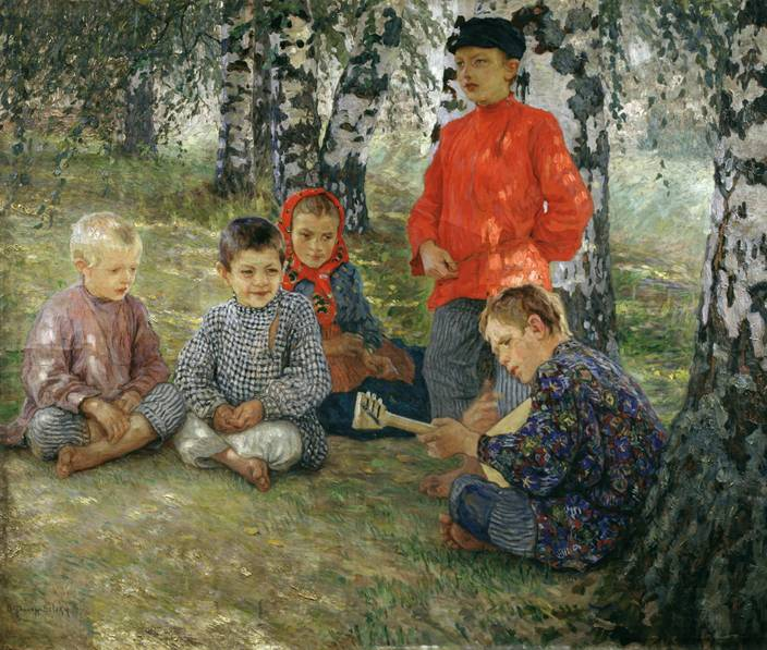Картина русского художника Николая Петровича Богданова-Бельского Виртуоз