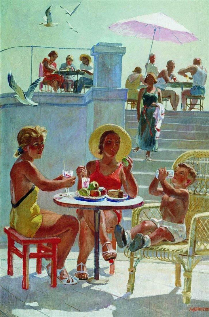 картина советского художника мастера соцреализма Александра Дейнеки В крыму