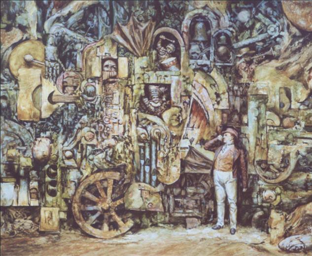 Картина современного российского художника Вадима Войтеховича Механический оркестр