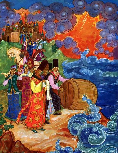 Анатолий Куркин, иллюстрация к Сказке о царе Салтане