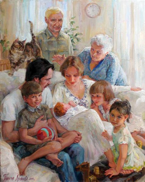 Полина Лучанова Семейный портрет (знакомство), 2014