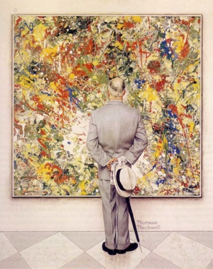 Картина американского художника Нормана Роквелла Знаток