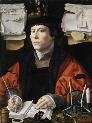 Картина художника Яна Госсарта Портрет банкира