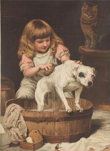 Картина художника Чарльза Барбера Charles Burton Barber Купание