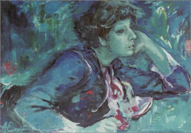 художник Егуткин Аркадий Ефимович картина Портрет Марины Цветаевой