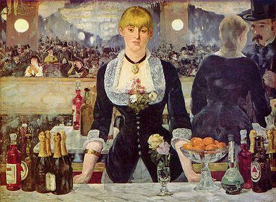 Картина французского художника Эдуара Мане Бар в Фоли-Бержер