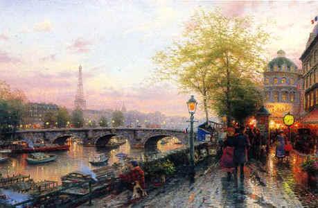 Томас Кинкейд Париж Эйфелева башня