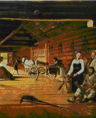 Фрагмент картины художника Веницианова Гумно