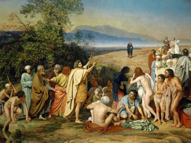 картина Явление Христа народу художника Александра Иванова