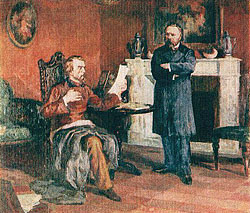 Белинский читает Герцену свое Письмо к Гоголю