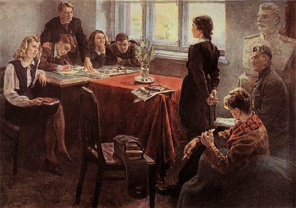 Картина художника Григорьева Прием в комсомол