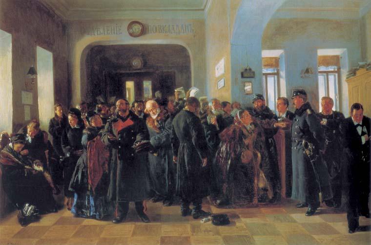 В.Е. Маковский Крах банка, 1881