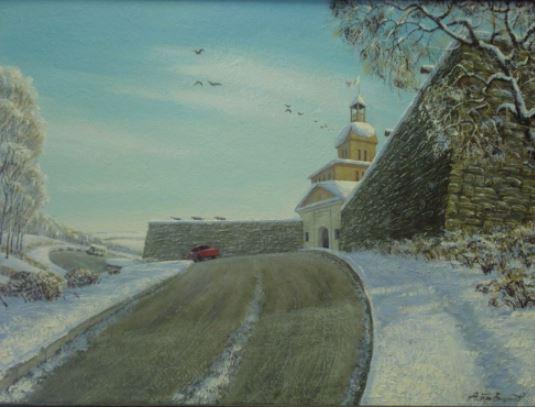 Анатолий Брызгунов современный художник из Новокузнецка картина Кузнецкая крепость