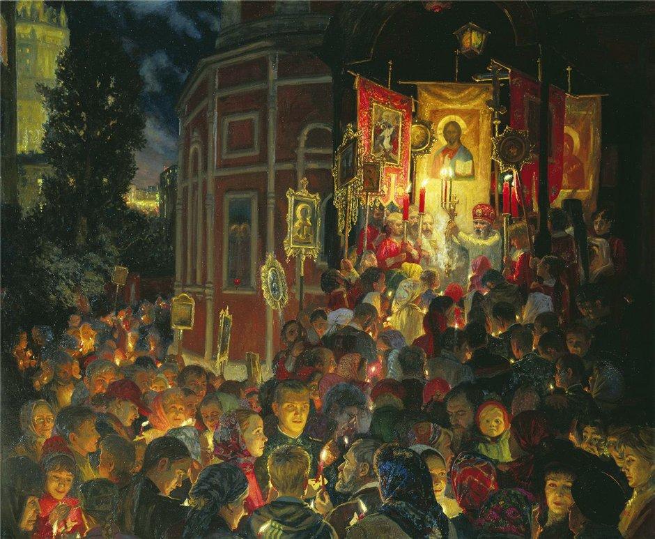 Картина современной российской художницы Юлии Кузенковой Пасха