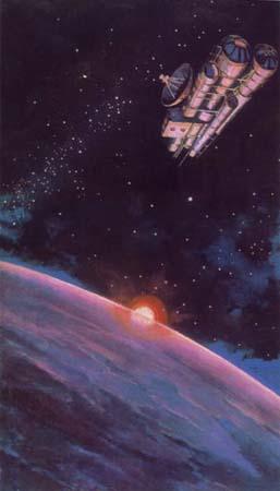 Картина человека, первым вышедшим в космос Алексея Леонова Будущая космическая станция