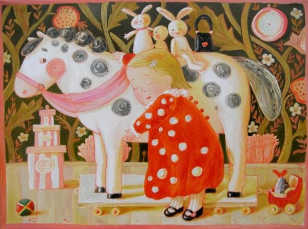 Картина Специальная песенка для лошадки художницы Анны Кролевой