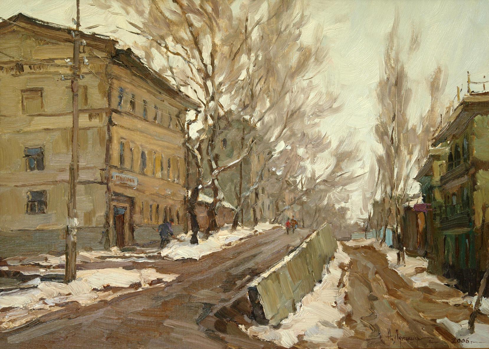 картина городской пейзаж Самара Николай Лукашук