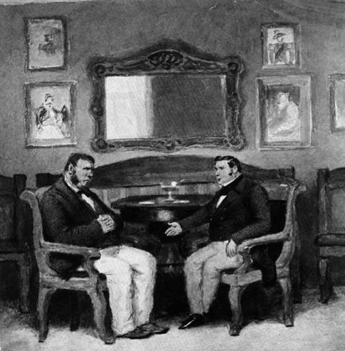 П.Соколов иллюстрация к поэме Гоголя Мертвые души Разговор  с Собакевичем