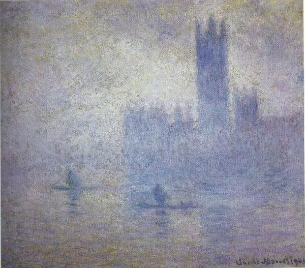Моне  Парламент, эффект тумана