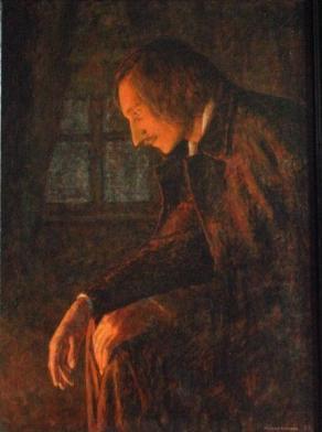 Картина Александра Леонидовича Москаленко Гоголь сжигает второй том Мертвых душ